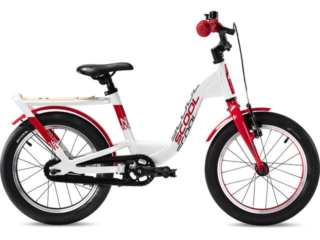 s'cool niXe EVO 16 Vrijwiel Kinderen, pearlwhite/red